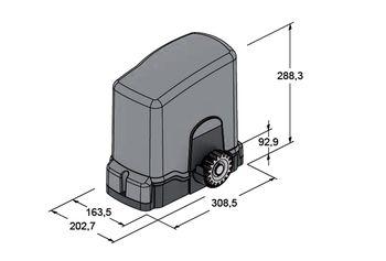 Set automatizare poarta autoportanta Tau T-ONEXLKit 230V